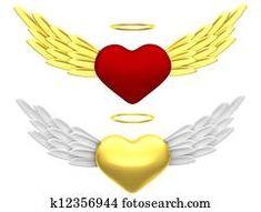 Angel heart Black Angel Wings, White Wings, Hummingbird Wings, Angel Illustration, Free Angel, Angel Heart, Heart With Wings, Religious Symbols