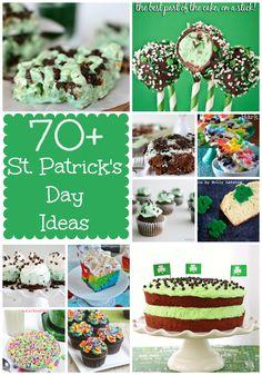 70+ St. Patricks Day Ideas from www.crazyforcrust.com | Mint treats, fun treats, boozy treats, and rainbow!