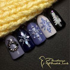 Маникюр на новый год, новогодний дизайн ногтей
