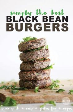 Burgers Healthy gluten free vegan Black Bean Burgers that are easy and done in 10 minutes and are simply amazing!Healthy gluten free vegan Black Bean Burgers that are easy and done in 10 minutes and are simply amazing! Veggie Recipes, Whole Food Recipes, Cooking Recipes, Healthy Recipes, Recipes Dinner, Free Recipes, Cooking Tips, Cooking Steak, Hamburger Recipes