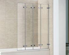 4 Panel Semi Frameless Folding Bath Screen