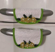Protetor ou pegador para porta de geladeira e freezer, confeccionado em tecido…