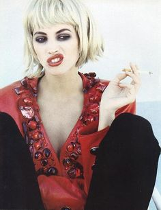 Christy Turlington by Ellen von Unwerth, 1990.