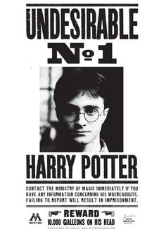 Harry Potter Undesirable No. 1 Poster Poster-Harry Potter Undesirable No. 1 Poster Poster Harry Potter Undesirable No. Objet Harry Potter, Harry Potter Thema, Cumpleaños Harry Potter, Harry Potter Halloween, Harry Potter Birthday, Harry Potter Newspaper, Harry Potter Journal, Harry Potter Poster, Harry Potter Tumblr