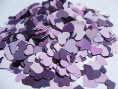 10,000 Mini Confetti Hearts. In Purple, Iris, Lilac, Lavender. Weddings, Showers, Decorations. ANY COLOR Available. by TreeTownPaper on Etsy
