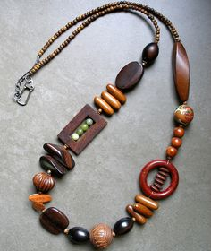 Necklace using Frame Bead components - lorelei eurto