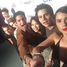 Teen Wolf Cast Shelley Hennig Dylan O'Brien Arden Cho Tyler Posey Holland Dylan Sprayberry Crystal