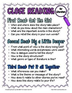 Close Reading Strategies, Reading Resources, Reading Activities, Reading Skills, Teaching Reading, Guided Reading, Learning, Teaching Ideas, Cloze Reading
