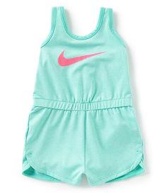 b43d93763285f Nike Baby Girls 1224 Months Sleeveless DriFIT Romper  Dillards Nike Baby  Clothes