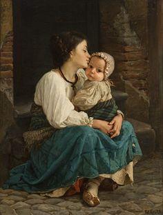 Cecrope Barilli, MOM and child, 1870-71