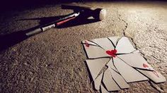 Broken ace of hearts Broken Heart Boy, Broken Heart Images, Lonely Heart, Broken Heart Wallpaper, Love Wallpaper, Mental Health Blogs, Love Pain, Ace Of Hearts, Der Plan