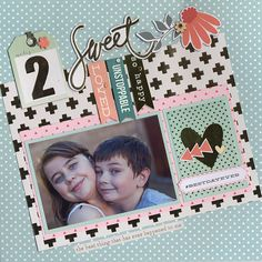 2 Sweet - Scrapbook.com - Made with the Scrapbook.com March kit club kit - Best Day Ever.