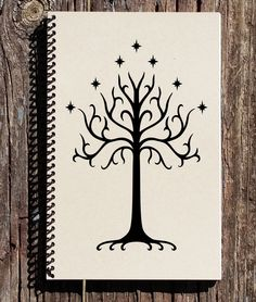 LOTR Tree of Gondor - Tree of Gondor Notebook - Lord of the Rings - Tolkien - LOTR Notebook - LOTR Journal - Sketchbook - Diary by CulturalBindings on Etsy https://www.etsy.com/listing/224314839/lotr-tree-of-gondor-tree-of-gondor
