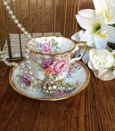 Vintage Elizabethan Fine Bone China Cup by Birdcagevintagefinds, $15.00