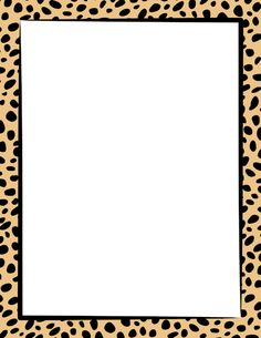 Free cheetah print border templates including printable border paper and clip art versions. Printable Border, Printable Frames, Printable Labels, Papel Scrapbook, Scrapbook Frames, Scrapbooking, Borders For Paper, Borders And Frames, Giraffe Print
