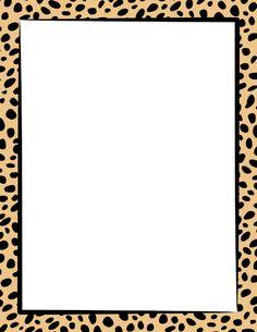 Cheetah print border. Free downloads at http://pageborders.org/download/cheetah-print-border/