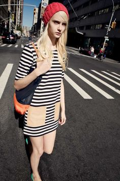 Club Monaco Spring 2013 l Haley dress, Janis hat, Laura tote