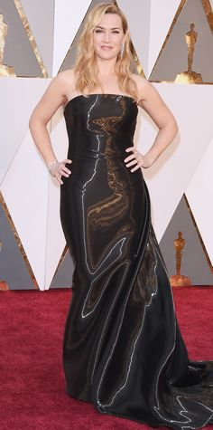 2016 Oscars Red Carpet Photos - Kate Winslet  - from InStyle.com  Kate Winslet in Ralph Lauren.