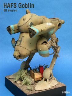 H.A.F.S. Goblin. Ma.K.1/20 scale. Scratch conversion of the NITTO Jerry kit. By Brian Krueger. #Ma_K #Maschinen_Krieger