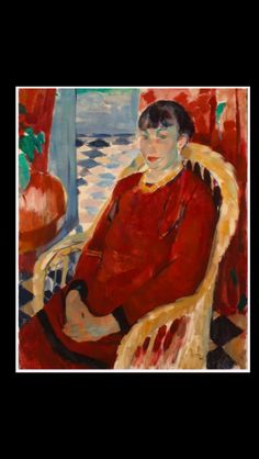 """Rik Wouters - """" The Lady in Red """", 1912 -  Oil on canvas - 80 x 100cm"""