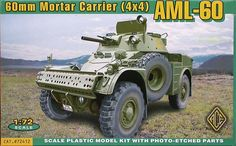 AML-60 Panhard, 60mm Mortar Carrier (4x4). Ace, 1/72, initial release 2005, No.72412. Price: Not Sold.