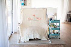 Photography Studio | Newborn Natural Light Set-up on Beanbag