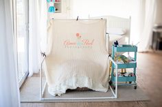 Photography Studio | Newborn Natural Light Set-up on Beanbag