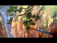 OIL PAINTING - How to Paint Tree Leaves with Oil Paint.