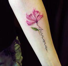 Image result for flower tattoo script