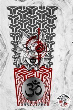 Half Sleeve Wolf Polkatrash Tattoo Motiv Yogi Tattoo, Ma Tattoo, Tattoo Motive, Mandala Tattoo, Tattoo Studio, Wolf Tattoos, Finger Tattoos, Hand Tattoos, Tatuaje Trash Polka