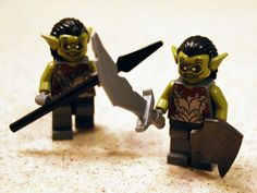 Lego Moria goblins -- terrifying and cute at the same time XD