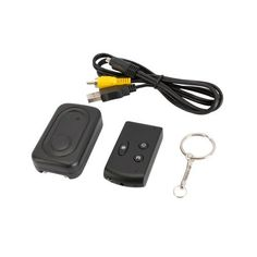 1920*1080p Hi-res Key Chain Car Remote Camera DVR by Crazy Cart. $35.99. Features: 1. New and high quality 2. Have a long working   time 3. Compact, lightweight and pocket-sized 4. Looks just like a remote   car key but is really a camera with audio and a built-in mini   DVR 5. Can help assuring privacy in hotels, restaurants, public toilets & change rooms 6. Can support the TF card max to 16 GB of files which you can   watch on practically any media software that supports AVI ...