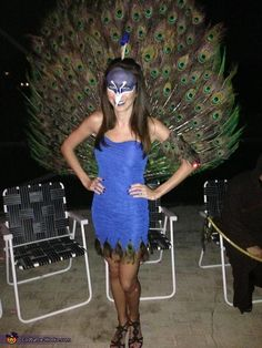 Best one yet!!!! Kind of easy to make... Homemade Peacock Costume