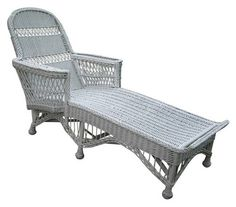 Wicker Chaise Lounge Vintage 1930