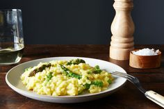 Vegan Lemon Asparagus Risotto recipe: Bright and elegant. #food52