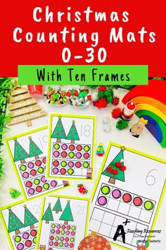 Looking for Christmas math printables for kids? then check these gorgeous math centers for learning to identify numbers and count 0-30. There's so many variations including with and without ten frames, digits and numbers as words. Your kids will love them this holiday season! Numbers Kindergarten, Learning Numbers, Preschool Classroom, Classroom Activities, Christmas Math, Christmas Activities, Christmas Printables, Fine Motor Activities For Kids, Teacher Freebies