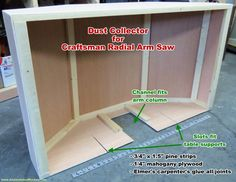 Completed Sawdust Collector for Craftsman Radial Arm Saw - Airplanes and Rockets