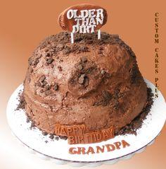 Older than dirt themed birthday cake.