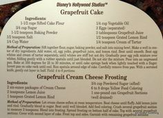 Grapefruit cake from the Brown Derby