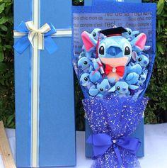 Cartoon Lilo Stitch Doraemon Plush Doll Stitch Bouquet. - No Box