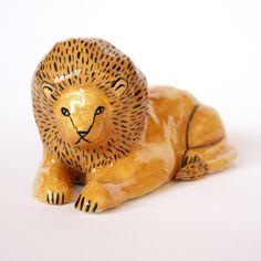 Lion ceramic by Jen Collins