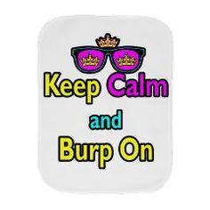 Crown Sunglasses Keep Calm And Burp On Burp Cloth > Crown Sunglasses Keep Calm And Burp On > Dooni Designs