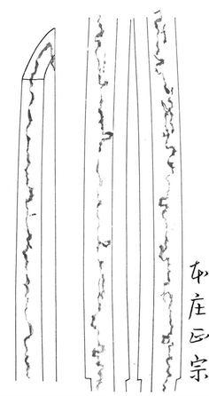 Hamon Signature of the Honjo Masamune
