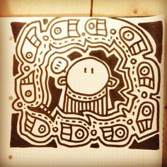 Quick #sketch with a #black #marker   #handcraft is as fun as #art ... #Instagram