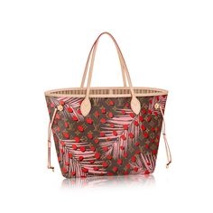 From the Louis Vuitton Summer 2016 Collection, the Palm Springs Neverfull features the new Monogram jungle pattern, combining an iconic shape with a trendy print.