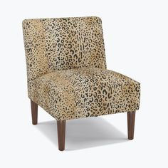 Living Room Decor: Leopard print chair inspiration.