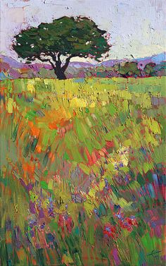 Wildflower Hill Print by Erin Hanson