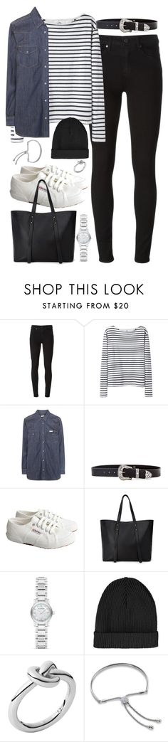 """""""Outfit for university"""" by ferned ❤ liked on Polyvore featuring Paige Denim, Wood Wood, Calvin Klein Jeans, B-Low the Belt, Superga, Forever 21, Burberry, Topshop, Michael Kors and Monica Vinader"""