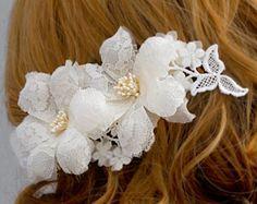 Flor nupcial peine pedazo del pelo de la boda por IrynaFleur