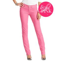 Marisa Straight Leg Corduroys, $59.50  #LOFTPink     25% of the full-price purchase of this item will go directly to The Breast Cancer Research Foundation